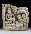 Rare Indonesian Buddhist / Hindu Limestone Relief, c. 8th.-10th. cent