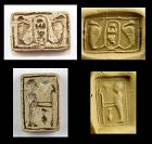 Rare Egyptian Double Steatite stamp seal w Royal Cartouche!