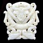 Superb White Jade Bull pendant, Late Han Dynasty, Ex Peony coll.!