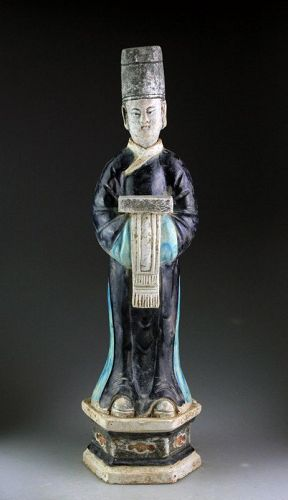 Large 49 cm. tall Chinese Ming Dynasty pottery figure!