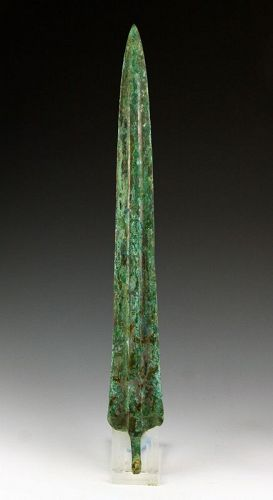 Large & Heavy Ancient Near East bronze sword, 2nd. mill. BC
