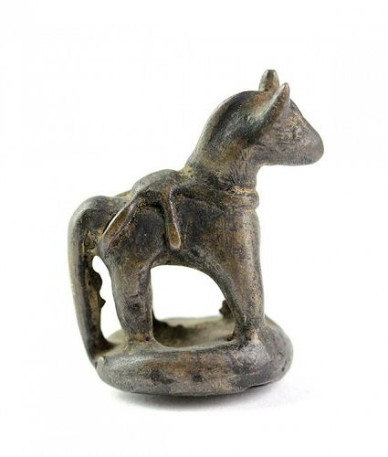 Laotian Laos bronze Horse Opium Weight, late 18th.-19th. cent.!