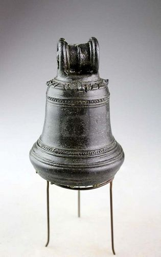 Rare Hindu kingdom of Majapahit ritual bronze Bell, 12th.-14th.cent.