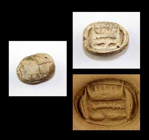 A good larger Steatite Scarab, Egypt, New Kingdom, 15th.-11th. cent