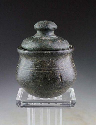 Ancient India, Gandhara Chlorite Stone jar, ca. 2nd. cent. BC.