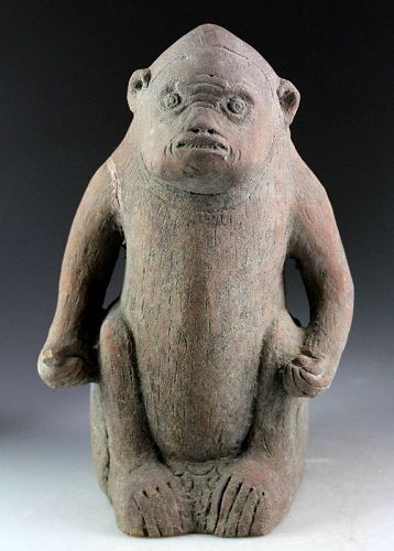 Indonesian Majapahit pottery sculpture of Monkey, 13th.-14th. cent