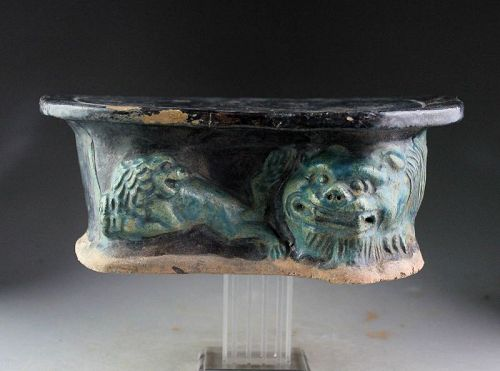 Rare and attractive Chinese Tomb Ceramic Pillow, Ming Dynasty!