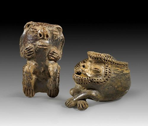 Extremely rare Anthropomorphic figures, Equador, Manteno Culture!