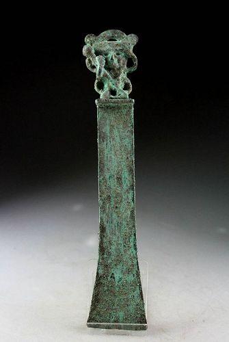 Rare Pre-Columbian Peru, Moche bronze Ritual Tumi, ca. 200-500 AD