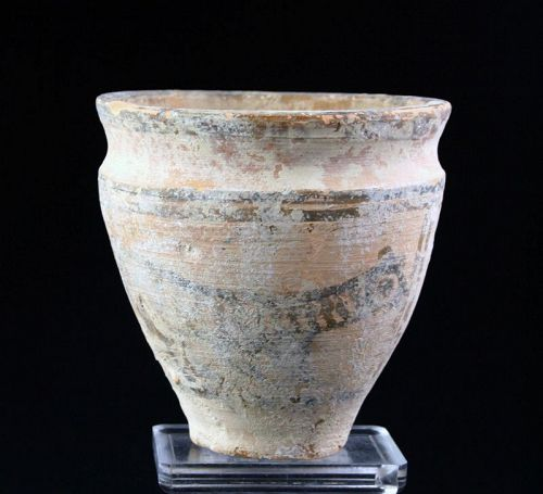 Decorated Indus Valley Pottery beaker, 3rd mill BC