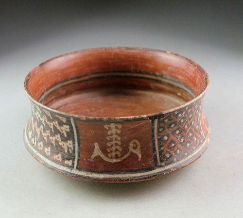 An attractive Inca-Chincha pottery bowl, Ica Valley, 1000-1476 AD!
