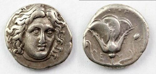 Fine Greek Rhodos silver Didrachm, 4th.-3th. century AD