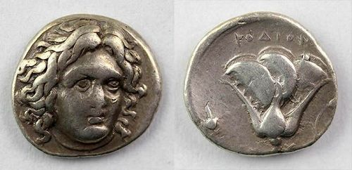 Affordable Greek Rhodos silver Didrachm, 4th.-3th. century AD