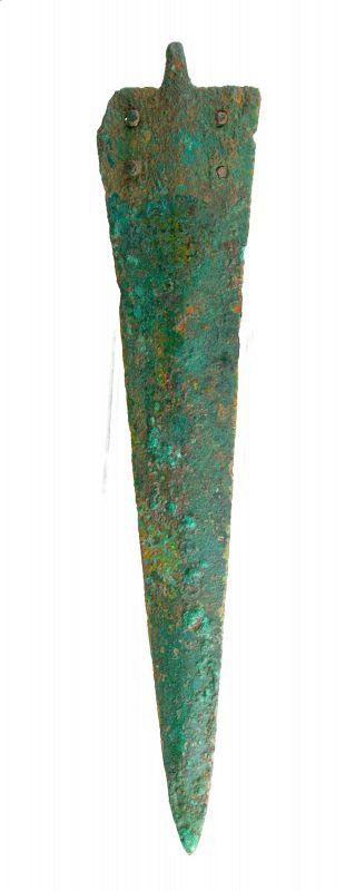 Canaanite Bronze Dagger w. 4 rivets - 1400-1000 BC