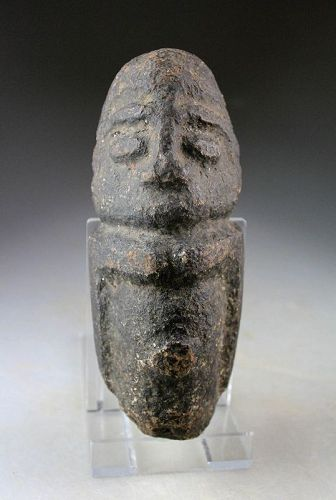 Ancient pre-classical Mexico stone figure of a god, pre 200 BC