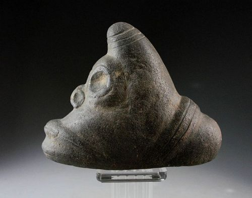 Choice Pre-Columbian Taino brown Stone Three Pointer Zemi!