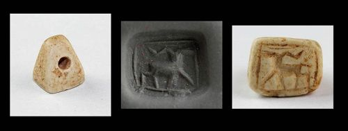 Fine ancient Marple stamp seal, Levantine ca. 2nd. mill. BC
