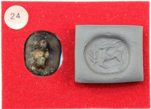 Scarce Anatolian stone stamp seal, ca. 4th.-3rd. millenium BC