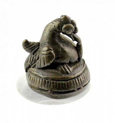 A choice early Burmese or Lanna Pyu Duck Opium Weight, pre 1550
