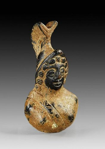 Impressive Roman bronze bust of Mars wearing corinthian helmet