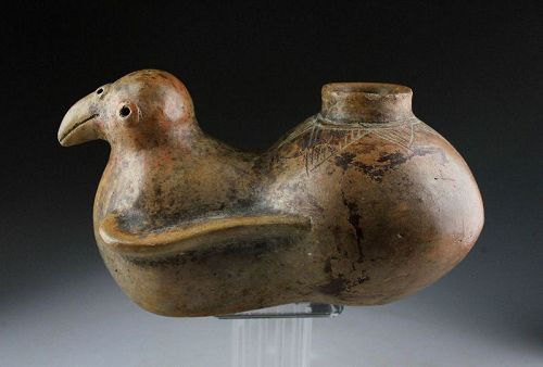 Large & rare Pre-Columbian Colima pottery vessel of zoomorphic form!