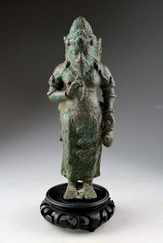 Bronze figure of the Deified Sage Agastya, central Java, ca. 9th. cent