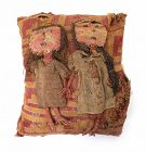 Important Authentic large Chancay textile Buriel Pillow w girls!