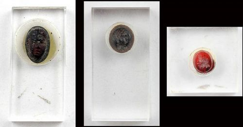 Nice set of Roman Intaglios or ringstones, 1st.-3rd. centuiry AD!