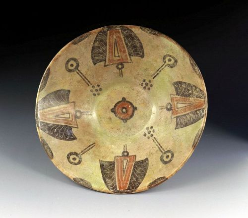 A larger, decorated Islamic pottery bowl, Kashan, 11th.-12th cent!!