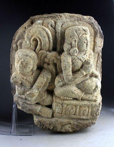 Indonesian Prambanan Hindu stone relief carving ca. 9th. century AD!