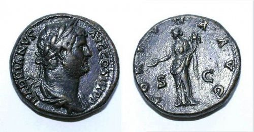 High Quality Hadrian bronze sestertius, Good VF!