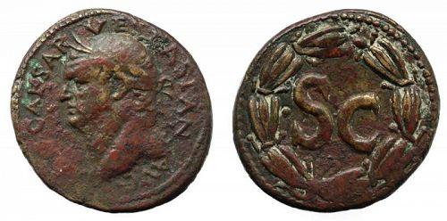Superb large flan Vespasian bronze dupondius, Syria Antioch!