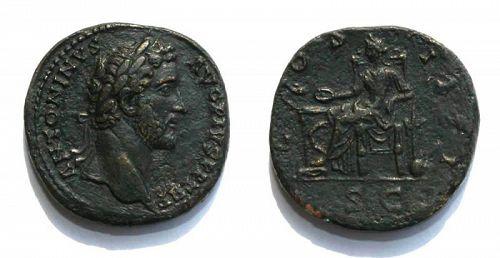 Choice Antoninus Pius bronze sestertius, 138-161 A.D.