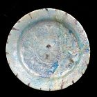 Beautiful Islamic polychrome pottery Dish w iridescence 12th. cent.