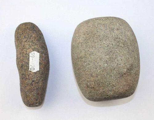 Pair of two rare Taino stone tools, Pre-Columbian period!
