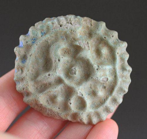 Massive Islamic faiance medallion, 8th.-10th. cent. AD