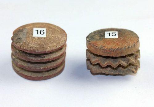 Pair of Pre-Columbian ceramic cylinder seal stamps, Aztec