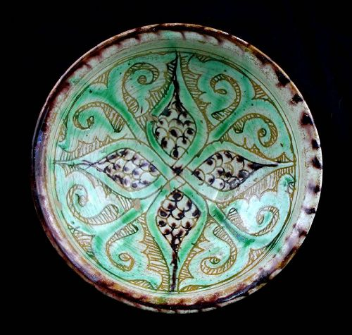 Fine Islamic Sgraffito pottery bowl, Bamiyan 12th. cent. AD