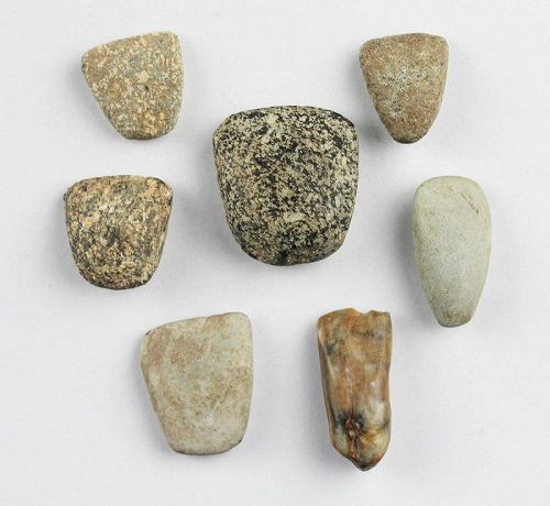 7 Egyptian Pre-Dynastic stone axes & tools, 5th.-3rd. mill. BC