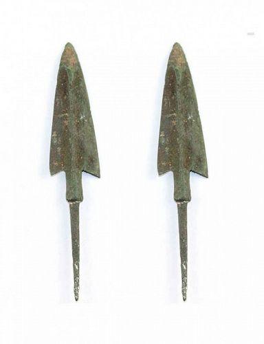 Fine ancient bronze spear head, Neo-elamite 800-600 BC!