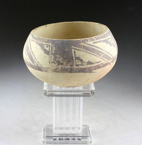 Nice larger Pre-columbian pottery bowl, Chancay Culture!