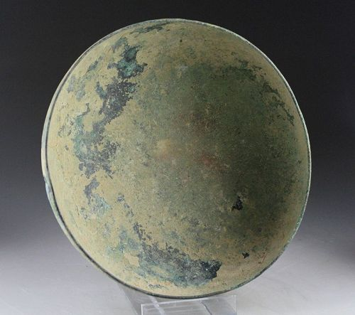 Massive Greco-Roman bronze bowl, 2nd. cent. BC-1st. cent. AD