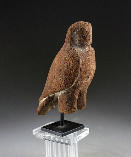 Ancient Egyptian Wooden Horus Falcon Late Period c.664-332 BC.