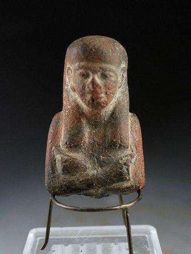 Fine Egypt ceramic sculpture of Osiris, Ptolemaic period