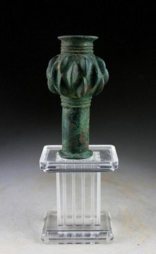 Superb ancient Luristan bronze macehead, ca. 1200-800 BC