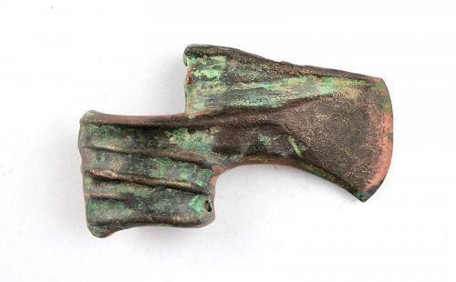 Heavy ridged bronze battle axe, Eurasian Steppes, ca. 1000 BC