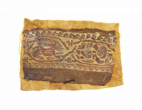 Late Roman Textile Tunic fragment of a Clavus w Nereid, 3rd.-4th. c.