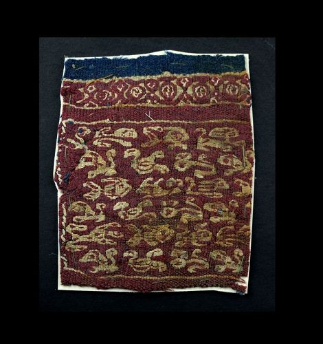 Nice Byzantine broadery textile with animals, 5th.-7th. cent. AD