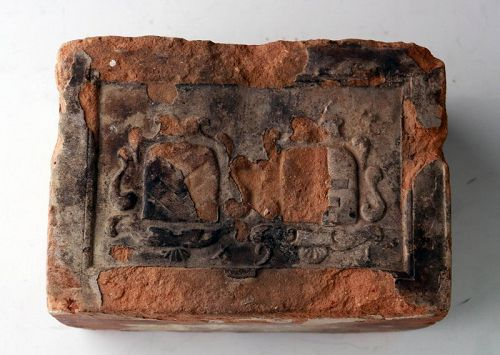 Nice foundation brick from European building, 17th. century