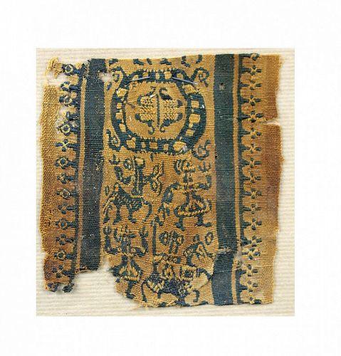 Fine Late Roman-Byzantine textile Clavus fragment, 5th.-7th. century A